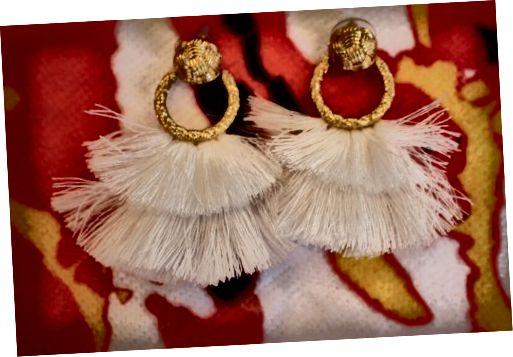 प्यार और नींबू के लिए फ्रिंज घेरा कान की बाली