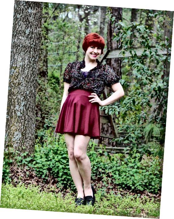 Jeden způsob oblékání sukně