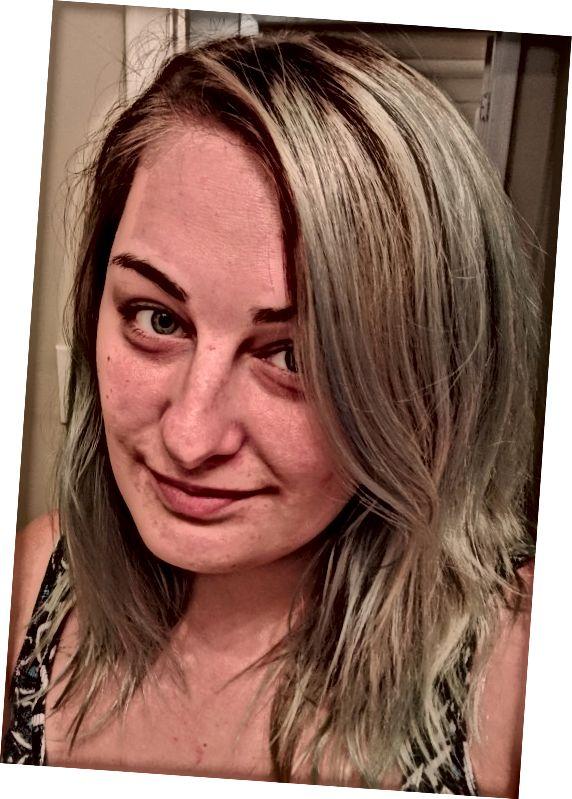 Tak vypadaly moje vlasy jako předzesvětlení.