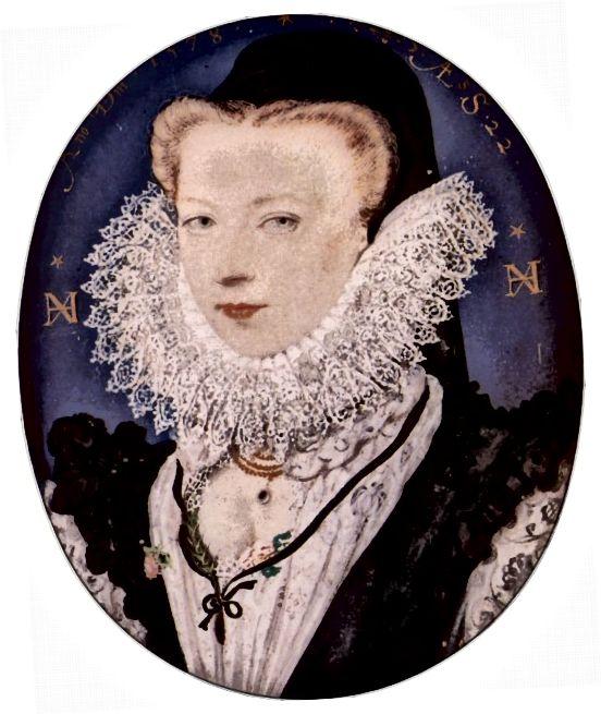 Alžbětinská žena nosí krajkový límec