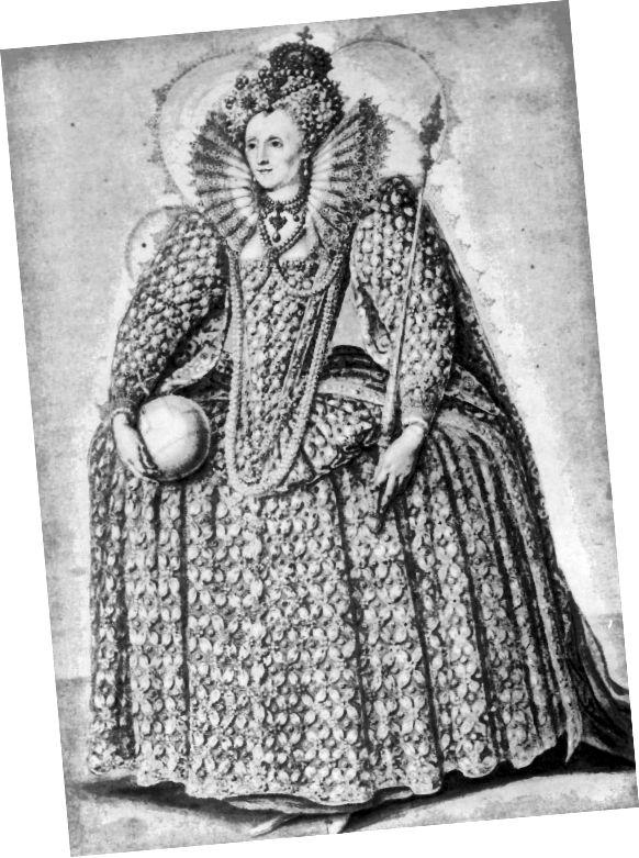 Královna Alžběta I na kolečkovém provazci