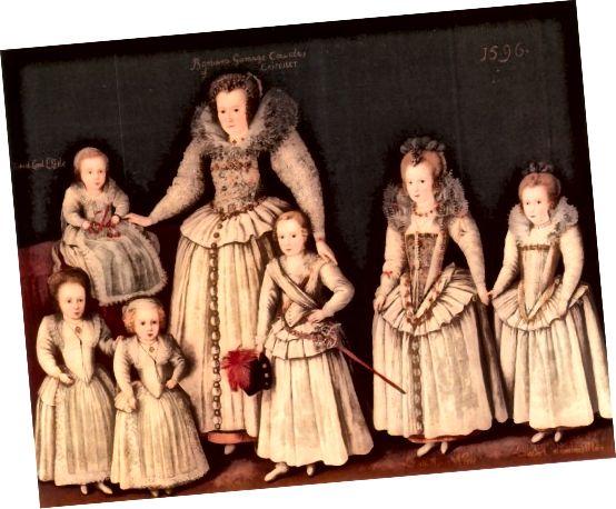 Děti byly oblečeny jako dospělí pro zvláštní příležitosti a do portrétů.