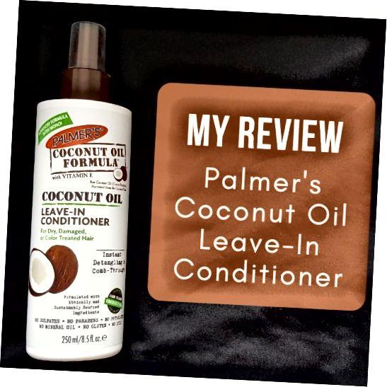 بررسی من درباره تهویه مطبوع فرمول روغن نارگیل پالمر برای موهای خشک ، آسیب دیده یا رنگی شده.
