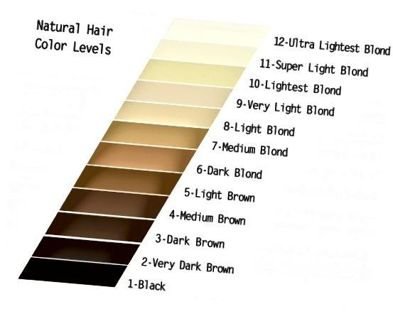Barevná tabulka přirozených vlasů