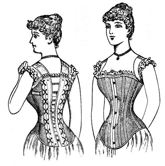 Ілюстрація корсета 1890 року