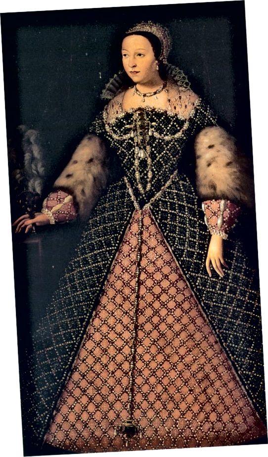 Катерина Медічі, королева Франції з 1547 по 1559 рр. Дружина короля Генріха II.