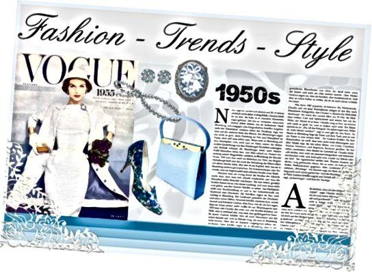 1950 के दशक की महिलाएं काफी फैशन के प्रति जागरूक थीं। उनकी परिधान शैली परिपक्व, सुरुचिपूर्ण और ठाठ थी, और अच्छी तरह से तैयार महिलाओं को हर समय शानदार दिखना एक आम दृश्य था।