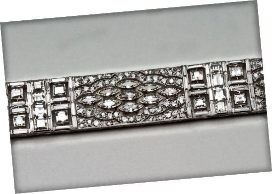 Art Deco Diamantarmband aus Frankräich