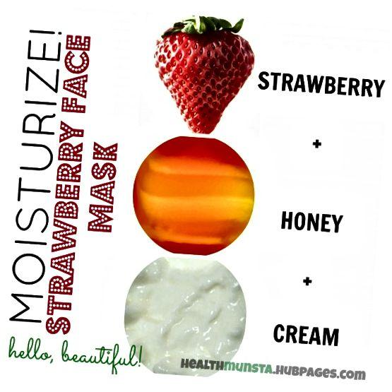 Smíchejte jahody, med a smetanu a vytvořte neuvěřitelně hydratační obličejovou masku, která zanechá vaši pokožku hydratovanou a zářící!