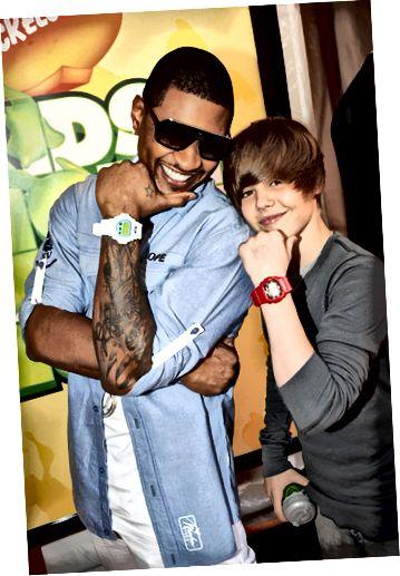 Usher i Justin Bieber pozują z G-Shockami.
