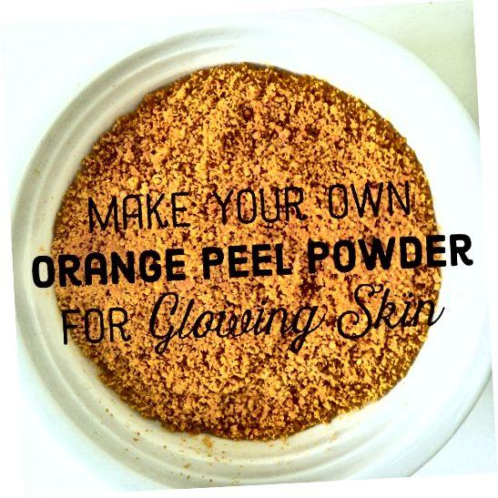 او چگونه می تواند پودر پوست پرتقال خود را بسازد /