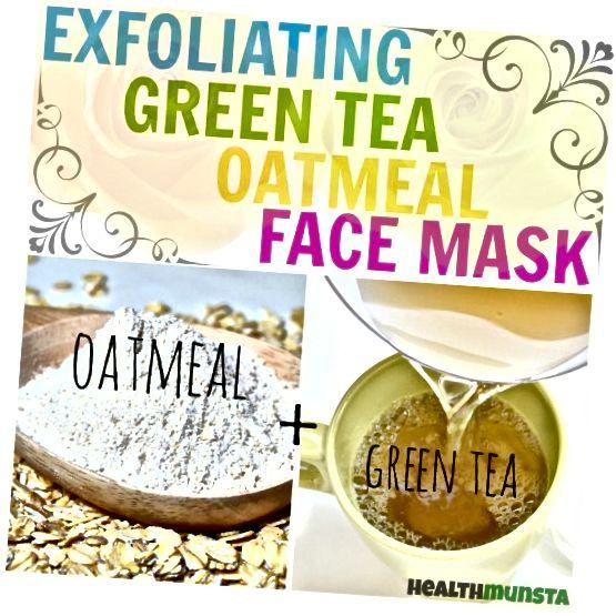 Αυτή η μάσκα προσώπου βρώμης πράσινου τσαγιού θα απολέψει απαλά τα νεκρά κύτταρα και το νιφάδες δέρμα και θα βγάλει βρωμιά, βρωμιά, σμήγμα και ρύπανση από τους πόρους.