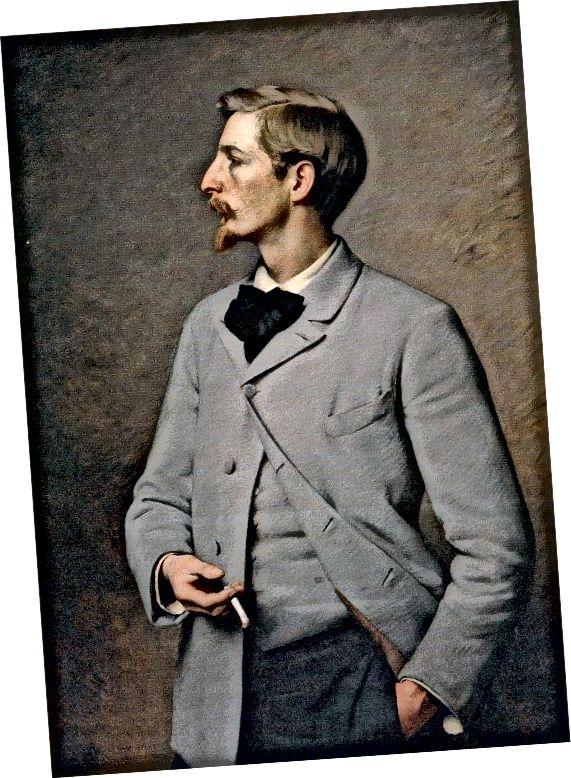موهای صورت ون دایک در اوایل دهه 1890.