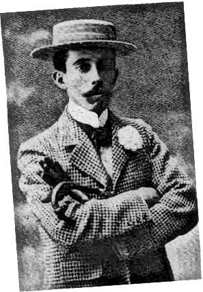 مردی که کلاه بوت ، پیراهن یقه بلند و یک ژاکت چک دار را پوشیده است.