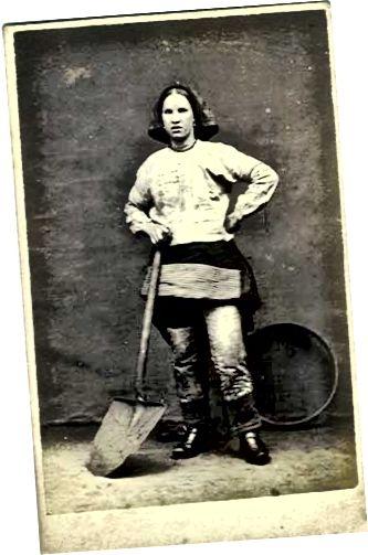 Miner feminin la pantaloni