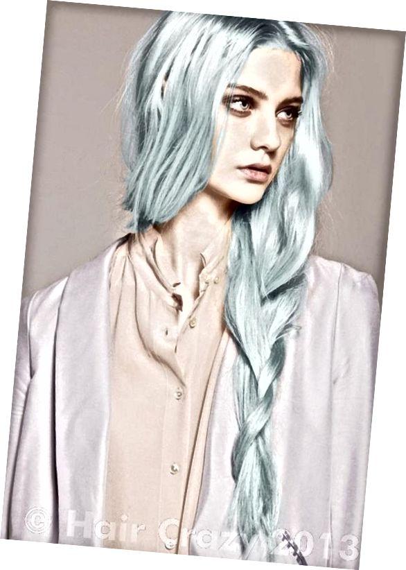 موهای آبی پاستلی