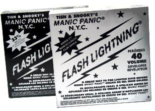 توصیه می شود: کابل رعد و برق Flash Panic. در دو قوت ، 30 و 40 عایق بندی می شود. 40-ضدعفونی یکی از قویترین سفید کننده هایی است که در بازار پیدا خواهید کرد ، بنابراین برای موهای تیره بسیار عالی است.