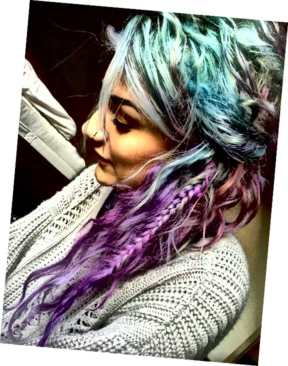 Teal-Purple Ombre