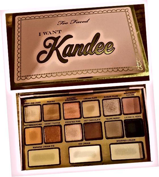 Η παλέτα My I Want Kandee, η οποία συσκευάζεται ακριβώς όπως ένα κουτί σοκολατάκια