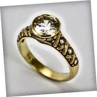 Unikátny zásnubný prsteň z 18kt žltého zlata od Alexa Sepkusa.