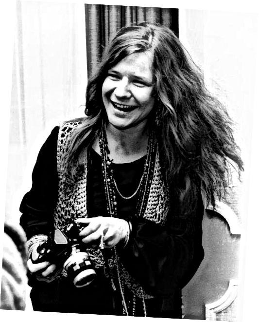 Janis Joplin ukazuje bohémský styl.