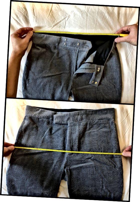 Μπορείτε να μετρήσετε τη μέση και τους γοφούς σας χρησιμοποιώντας ένα παντελόνι που έχετε ήδη (πολλαπλασιάστε κάθε αριθμό με δύο!).