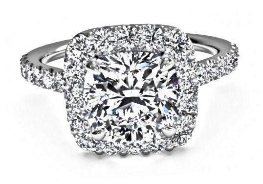 Zásnubní prsten ve stylu Halo