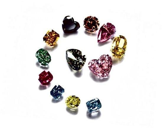 Barevné diamanty přicházejí do duhy odstínů a intenzit.