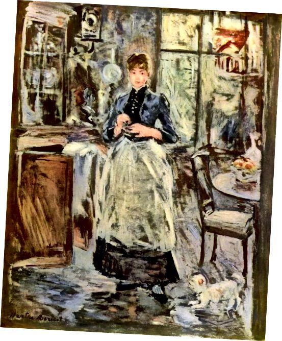 دختر در پیش بند - نقاشی