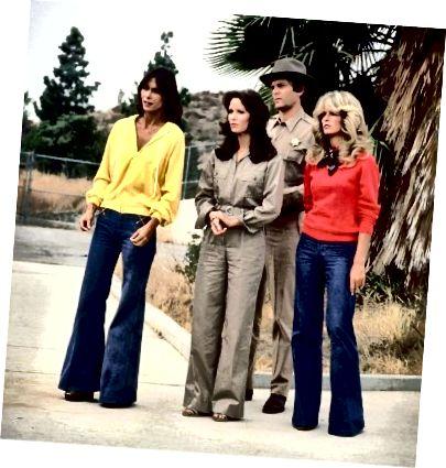 Oblačila za široko nogo iz 70-ih let