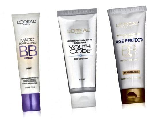लोरियल बीबी क्रीम: मैजिक स्किन ब्यूटिफायर (कम से कम त्वचा की चिंताओं के लिए), यूथ कोड या एज परफेक्ट (एंटी-एजिंग के लिए)