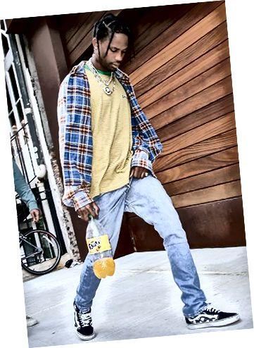 Подивіться на Травіса! Світло-сині джинси, фланель та яскрава кольорова палітра! Гарний старт!