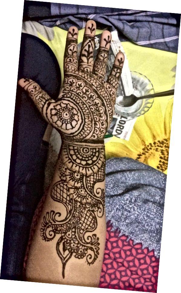 این یک طراحی هندی است که من در هندوستان انجام دادم