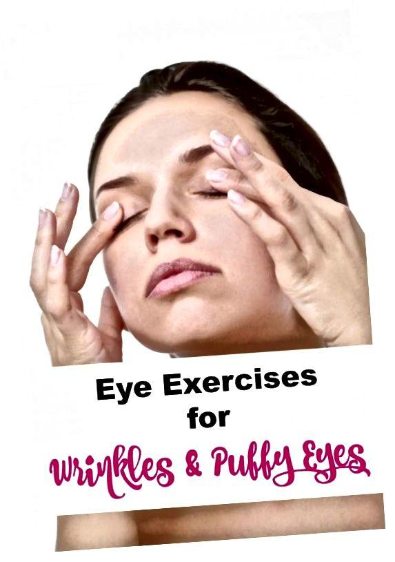 रक्त परिसंचरण को बढ़ावा देने और आंखों की छाया के नीचे कम करने के लिए आंखों के व्यायाम का उपयोग करें