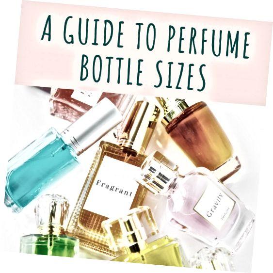 Jak odróżnić rozmiary butelek perfum na uncje i mililitry (lub mililitry).