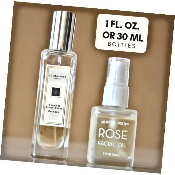 Obie butelki mają 30 ml lub 1 FL. OZ. ale różne kształty.