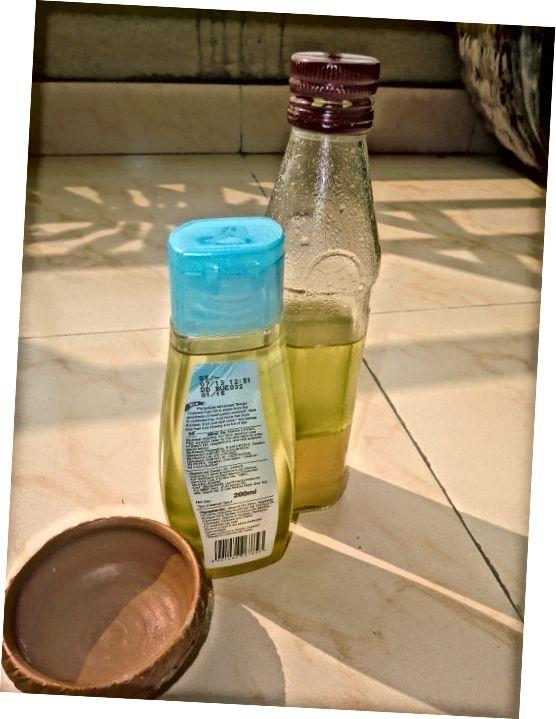 روغن را می توان در بطری های تمیز نگهداری کرد و تا زمان تمام شدن از آنها استفاده کرد. ممكن است در انتهای بطری ها پوشانده شود اما کیفیت روغن مو را خراب نمی كند.
