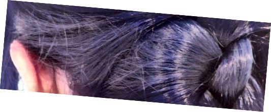 موهای من ، پس از استفاده از مخلوطی از رنگهای آبی و بنفش Fudge Paintbox - رنگ مورد علاقه من!
