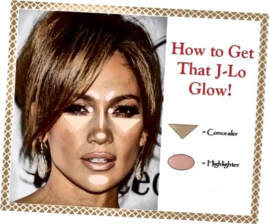 """Aplicați Highlighter pe anumite zone pentru a face aspectul de machiaj al lui Jennifer Lopez """"J Lo Glow""""!"""