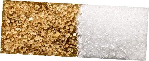 Witte of bruine suiker