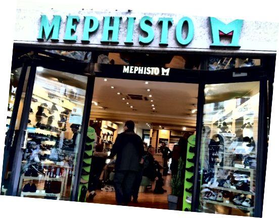 Κατάστημα Mephisto στη Ρώμη.
