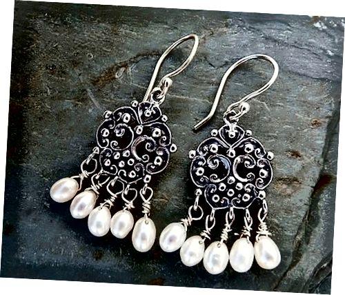 Příklad filigránových šperků