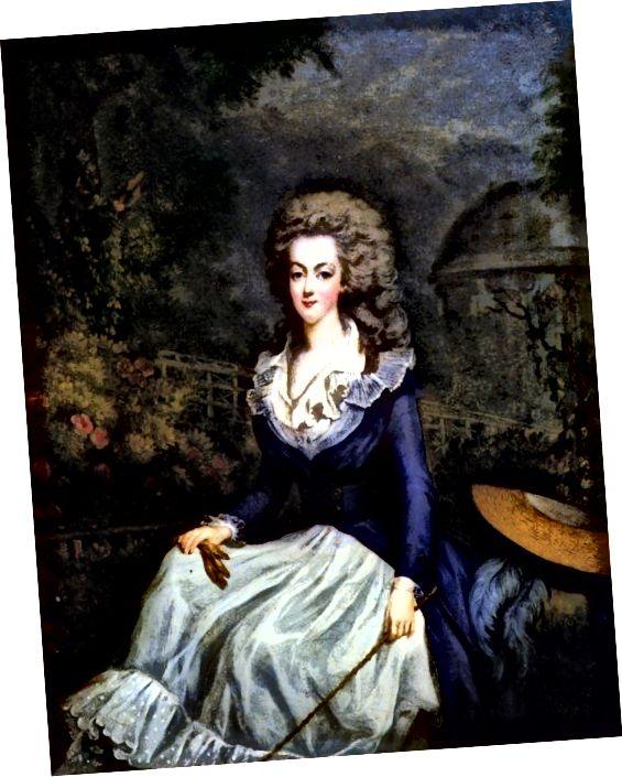 Coiffure a l'enfant - nový účes, který vyhovoval problémům s vlasy Marie Antoinetty.