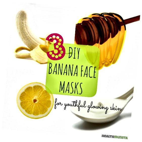 Для сяючої молодіжної шкіри спробуйте ці прості бананові маски для обличчя з бананів, які можна зробити вдома!