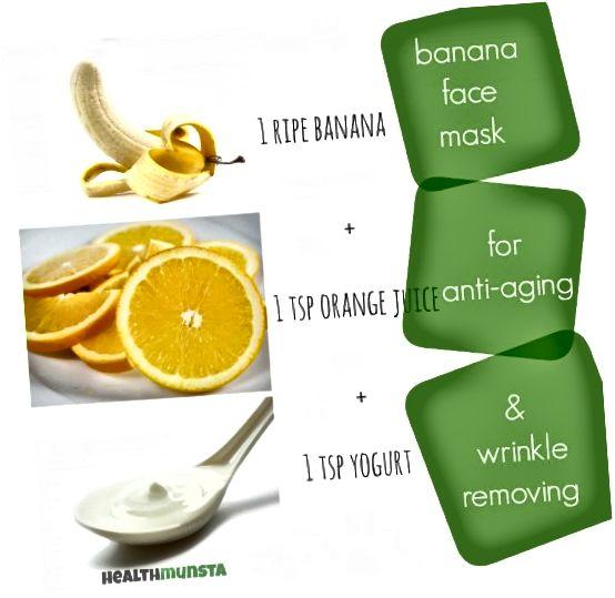 Enostavna domača DIY bananina maska za obraz, s katero odstranite gube in kožo naredite mlado!