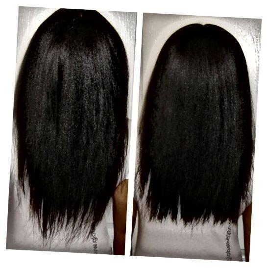 Підстригання волосся: до і після