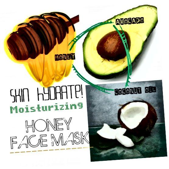 ماسک صورت عسل برای احیای نهایی پوست. با وجود آووکادو و روغن نارگیل ، این ماسک عالی برای انواع مشکلات پوستی است.
