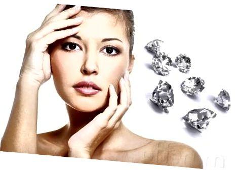 Алмазы выкарыстоўваюцца ў некаторых салонах для апрацоўкі скуры кліентаў і выдалення мёртвых клетак.