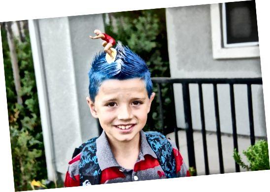 Фризура коју дечаци могу да ураде за Дан лудих косе или Дан лукавих косе.