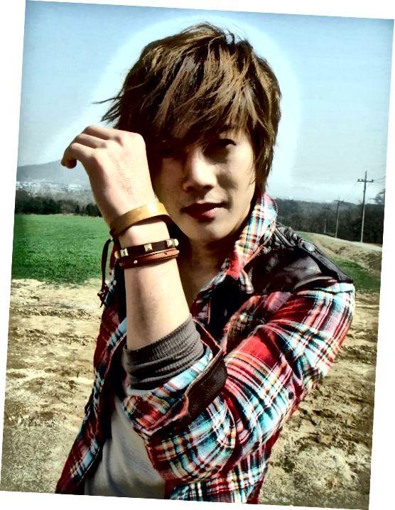 Η Kim Hyung Joong με την εμφάνιση του Pretty Boy.